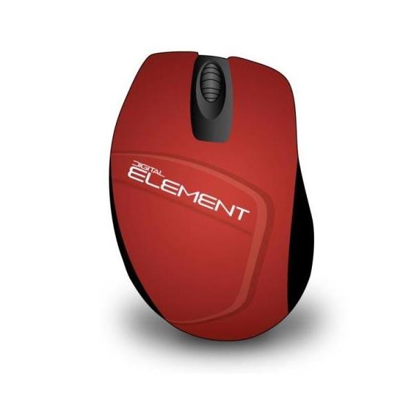 Ποντίκι Element Ασύρματο MS-165R 1200DPI, κόκκινο