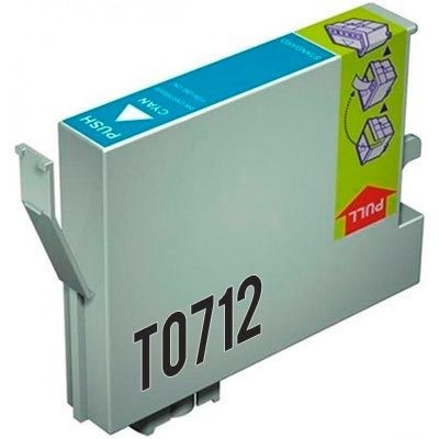 Συμβατό Epson T0712 Cyan C13T07124010