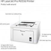 Εκτυπωτής HP LaserJet Pro M203dn Mono Laser G3Q46A