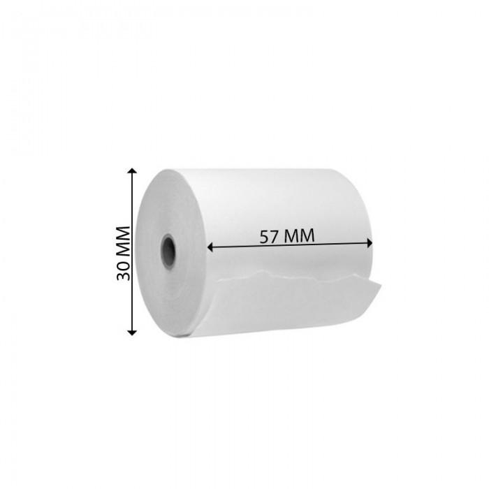 ΘΕΡΜΙΚΑ ΡΟΛΑ ΤΑΜΕΙΑΚΩΝ ΜΗΧΑΝΩΝ - POS 57mm Χ 30mm 55 γρ. (Τεμάχιο)