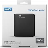 Εξωτερικός Δίσκος Western Digital Elements Portable 500GB USB3.0 BLACK WDBUZG5000ABK