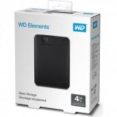 Εξωτερικός Δίσκος Western Digital Elements Portable 4TB USB3.0 BLACK WDBU6Y0040BBK