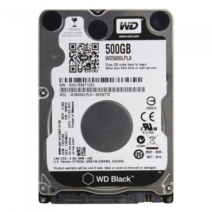 """Σκληρός Δίσκος Western Digital Black 500GB 2.5"""" SATA ΙΙΙ 32MB Cache 7200rpm WD5000LPLX"""