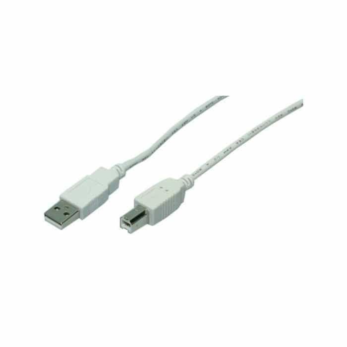 Καλώδιο LogiLink USB 2.0 USB-A male - USB-B male 2 μέτρα Γκρι CU0007