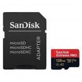 Κάρτα Μνήμης Sandisk Extreme PRO A2 MicroSDXC V30 UHS-I U3 128GB + SD Adapter 170MB/s SDSQXCY-128G-GN6MA