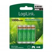 Επαναφορτιζόμενες Μπαταρίες Logilink NiMH AAA 1000mAh LR03RB4