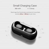 True Wireless Earbuds QCY T1c Bluetooth 5.0 IPX4 Black με θήκη φόρτισης 6957141405789