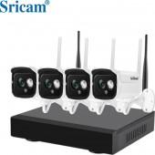 Ολοκληρωμένο συστήματα CCTV SRIHOME NVS001 με καταγραφικό & 4 ασύρματες κάμερες FULL HD 1080