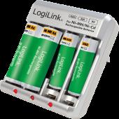 Φορτιστής για επαναφορτιζόμενες μπαταρίες LogiLink PA0168
