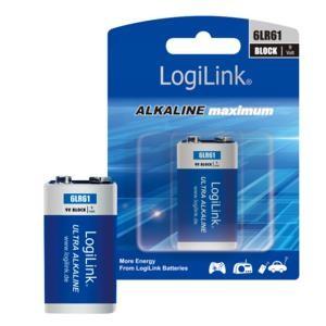 Αλκαλική Μπαταρία LogiLink Ultra Alkaline 6LR61 9V