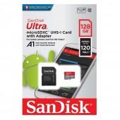 Κάρτα Μνήμης Sandisk Ultra MicroSDXC Class 10 A1 128GB 120MB/s SDSQUA4-128G-GN6MA