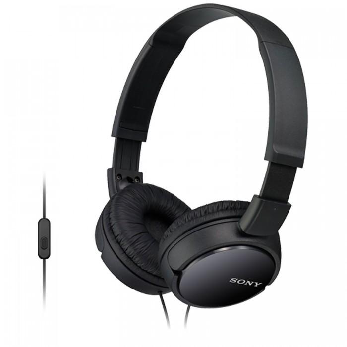 Headphones Sony MDR-ZX110AP Μαύρο